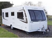 2013 Lunar Clubman Si 4 beth caravan, with island double bed and end washroom