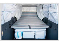 Campervan folding double bed