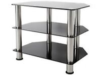 Black smoked glass finish tv stand