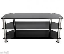 """tv stand excellent condition large so will suit 50"""" plus tvs in black glass"""