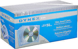 Dynex - 50-Pack Clear Slim Jewel Cases