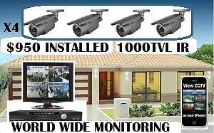 4 Video Surveillance Security Cameras HD CCTV full Installation. Melbourne CBD Melbourne City Preview