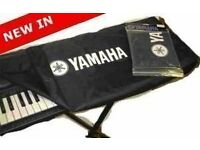Yamaha PSR-F50 portable keyboard, cover and stand