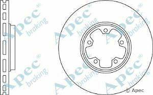 Apec Braking OE Quality Replacement Single Brake Disc Disk - DSK2057