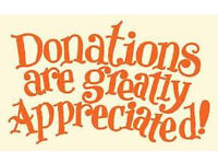Donations urgently wanted, ladies and gents clothes shoes, also kids clothes urgently wanted