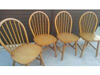 Four wooden chairs for Sale