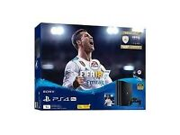 BRAND NEW factory sealed FIFA 18 bundle 500gb. As new unopenec.