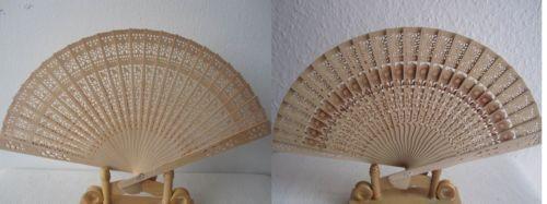 599 5 Stk Sommer Fächer Hand Blumen Holz Stoff Falt Hochzeit zufällige Motive