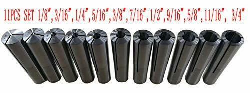 "B&S BROWN SHARPE 9# Collet 11Pc Set 11PCS SET 1/8""- 3/4"""