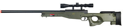 Well L96 AWP Type 96 Bolt Action Airsoft Sniper Rifle OD Green + Scope MB01G for sale  Prescott Valley
