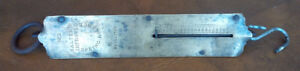 Antique Brass Salter's Improved Balance Hanging Spring Scale