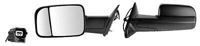2013 2014 Ram 1500 3500 Driver Side 2 lens Extend Tow W/Temp Sensor Mirror New