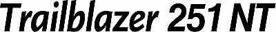Miller Welder Trailblazer 251 Nt Decal Sticker - Set Of 2 - Black