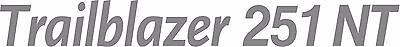 Miller Welder Trailblazer 251 Nt Decal Sticker - Set Of 2 - Silver