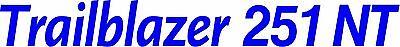 Miller Welder Trailblazer 251 Nt Decal Sticker - Set Of 2 - Blue