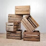 VINTAGE WOODEN APPLE CREATE, RECLAIMED APPLE BOX
