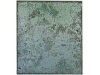88 kitchen tiles (44 turquoise, 44 greyish white)