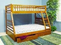 ★★★TODAY GET THIS New Kids Solidwood Bunkbed $398 Mattress$38★★