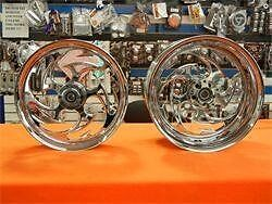 Chrome 240 Fat Tire Shredder Wheels, Hubs, And Sprocket For 2008-2016 Hayabusa