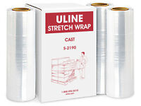 Uline Stretch Wrap - 3 plastic wrap rolls