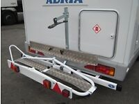 Motorhome scooter motorcycle carrier
