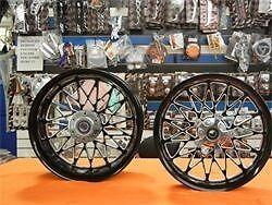 Stock Size Black Contrast Bandit Wheels, Hubs, Sprocket For 1999-2019 Hayabusa