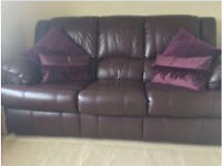 For Sale Leather Bed Settee and Chair