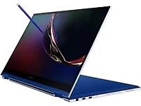 """SAMSUNG GALAXY FLEX BOOK 13"""" FHD 2 in 1 LAPTOP / TABLET ROYAL BLUE BOXED AS NEW & WARRANTY rrp £1149"""