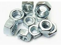 HEX NUTS ZINC-PLATED STEEL M12 100 PACK