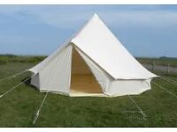 (SALE) 4m Deluxe canvas bell tent £390+ FREE SHIPPING TO UK