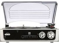 Dual DTR 50 turntable with built in amp/tuner and speakers