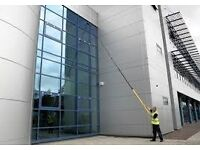High reach window and gutter cleaning