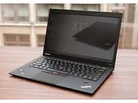 "Lenovo X1 Carbon Laptop, touch-screen model, Intel i7 CPU, 240GB SSD HD, 8GB RAM, 14"" screen."
