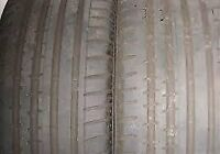 4 x STAGGERED 18'' CONTINNETAL contisport tires %80 tread left