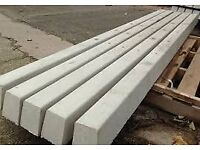 8 x 7.6M concrete fence posts (Not digger, wood fence, timber, building material, cement mixer)