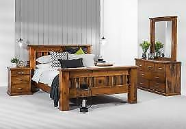 SETTLER 4 PCE QUEEN BED DRESSER SUITE RRP $1,699 Ferny Grove Brisbane North West Preview