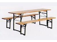 Oktoberfest furniture: 20 sets of benches + tables #Bierbank #Beergarden #OutdoorFurniture