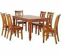 Dining Table Six Chairs & Buffet With Free Brand New Microwave Auburn Auburn Area Preview