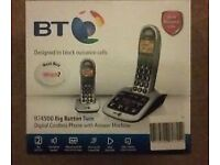 BT4500 Big Button Digital cordless phone and answer machine.