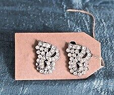 Vintage Diamante Dress Clips
