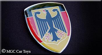 Two German Germany Real Car Metal Automotive Fender Grille Emblem Auto Flag