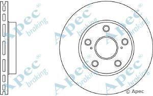 Apec Braking OE Quality Replacement Single Brake Disc Disk - DSK2741