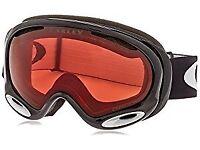 OAKLEY Ski Snow Goggles A Frame 2.0 OO7044-02 Jet Black Prizm Rose WORN ONE DAY RRP £110