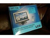 "7"" LCD tv perfect for caravan car or home"