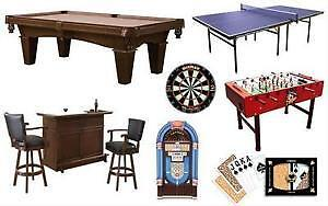 NEW & USED POOL TABLES, SHUFFLEBOARDS, PINBALL MACHINES,