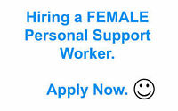 Seeking Female PSW with vehicle for part time on weekends