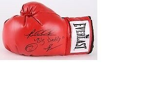 3 X GANT GLOVE BOXE SIGNÉ ,SIGNED ,BOWE,BARKLEY,WRIGHT