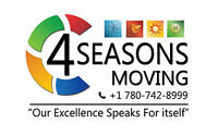 4 seasons moving having weekly trips to edmonton.