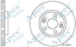 Apec Braking OE Quality Replacement Single Brake Disc Disk - DSK834