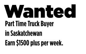 Part Time Truck Buyer Wanted in Saskatchewan Ford GMC Chevy
